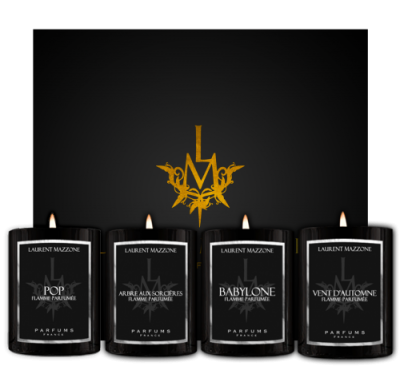 Candles Scent Box : Candle Box : Scented Candles - Laurent Mazzone Parfums
