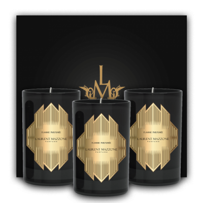 Candles Scent Box : Candle Box : Flamme Parfumée - Laurent Mazzone Parfums